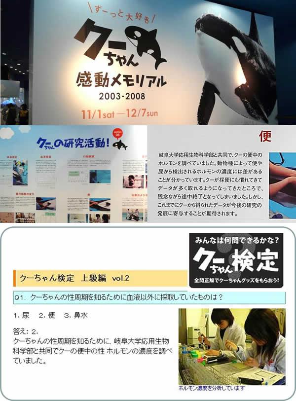 図5 名古屋港水族館のシャチの特別展(2008年11月1日~12月7日まで開催)