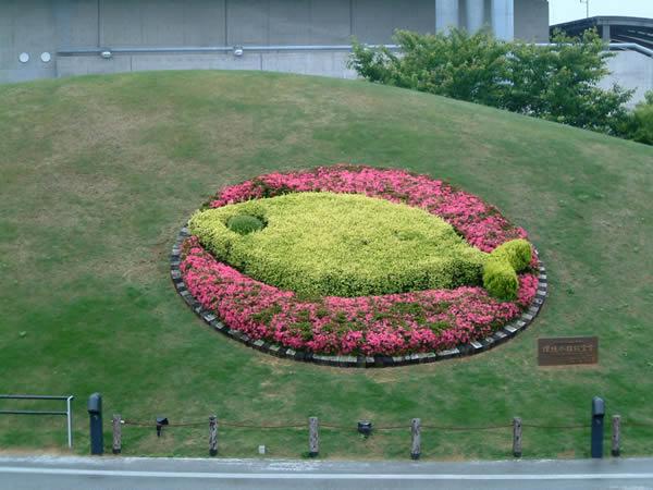 環境水族館宣言をデザイン化した、植栽によるアクアマリン・シンボルマーク
