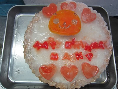 練習用のケーキ